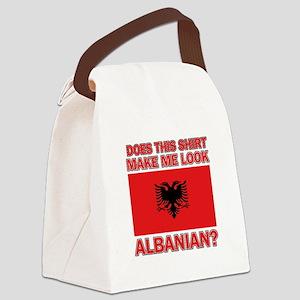 Albanian Flag Designs Canvas Lunch Bag