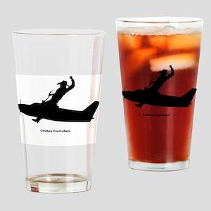 Air Traffic Cowboy Phraseology Drinking Glass
