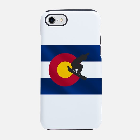Colorado Snowboard Flag iPhone 7 Tough Case