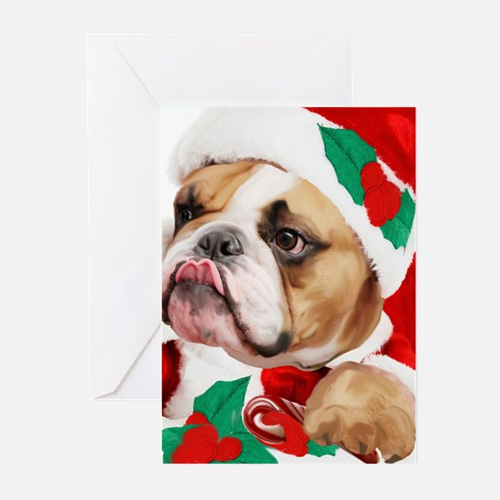 bulldog candy cane Greeting Cards (Pk of 20)