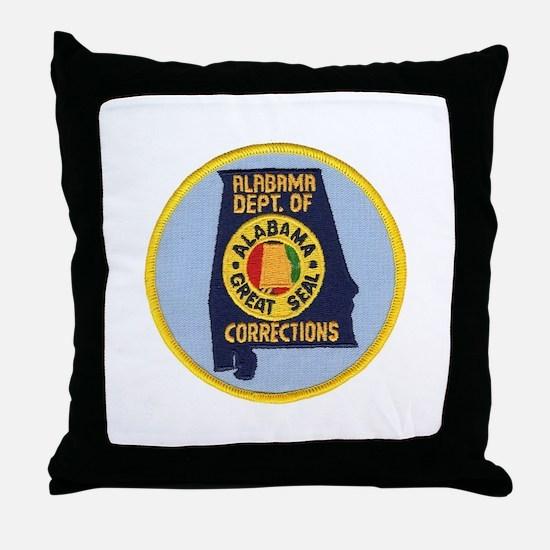 Alabama Corrections Throw Pillow