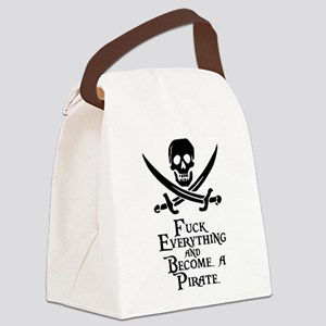 Become a pirate Canvas Lunch Bag