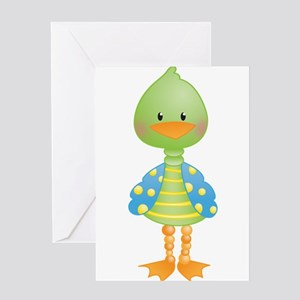 Green Ducky Greeting Card