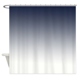 Blue Ombre Shower Curtains