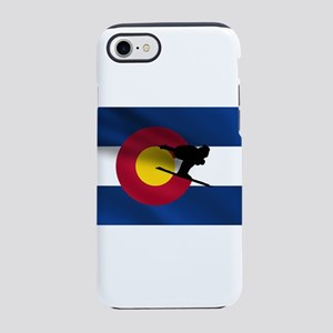 Colorado Skiing Flag iPhone 7 Tough Case