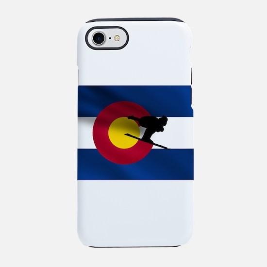 Colorado Skiing Flag iPhone 7 Tough Case