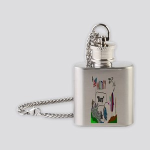 Military Burp Flask Necklace