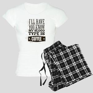 Blood Type Coffee Women's Light Pajamas