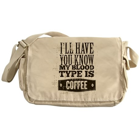 Blood Type Coffee Messenger Bag