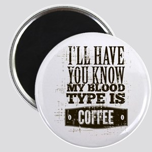 Blood Type Coffee Magnet