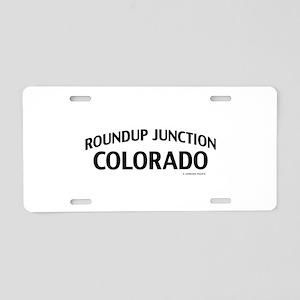 Roundup Junction Colorado Aluminum License Plate