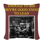 duplicate bridge player gifts Woven Throw Pillow