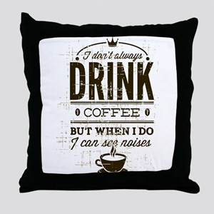 Coffee Noises Throw Pillow