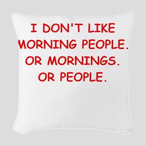 mornings Woven Throw Pillow