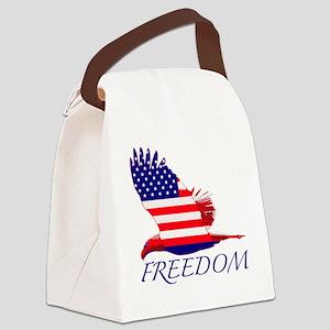 Freedom eagle Canvas Lunch Bag