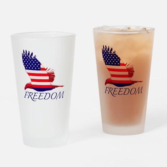 Freedom eagle Drinking Glass