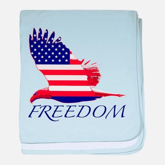 Freedom eagle baby blanket