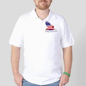 Freedom eagle Golf Shirt