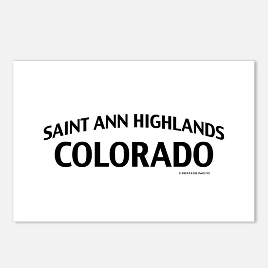Saint Ann Highlands Colorado Postcards (Package of