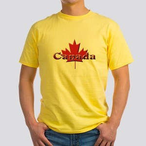 Canada: Maple Leaf Yellow T-Shirt
