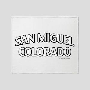 San Miguel Colorado Throw Blanket