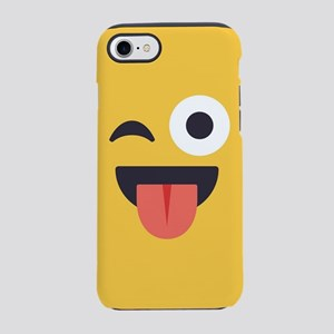 Winky Tongue Emoji Face iPhone 7 Tough Case