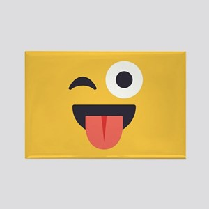 Winky Tongue Emoji Face Rectangle Magnet