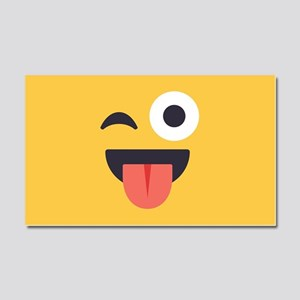 Winky Tongue Emoji Face Car Magnet 20 x 12