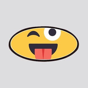 Winky Tongue Emoji Face Patch