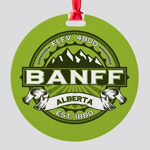 Banff Green Round Ornament