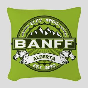 Banff Green Woven Throw Pillow