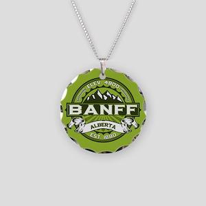 Banff Green Necklace Circle Charm