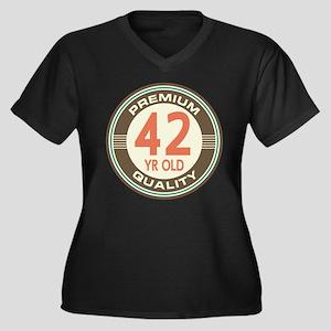 42nd Birthday Vintage Women's Plus Size V-Neck Dar