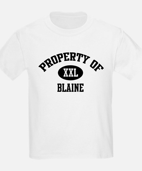 Property of Blaine Kids T-Shirt