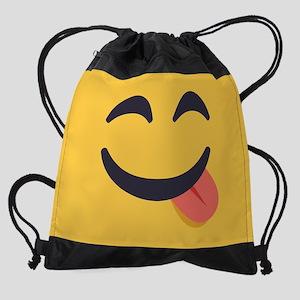 Tongue Emoji Face Drawstring Bag
