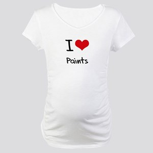 I Love Paints Maternity T-Shirt