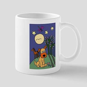 Dog and Horse Folk Art Mug