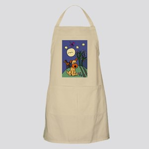 Dog and Horse Folk Art Apron