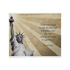 Thomas Paine Quote Throw Blanket