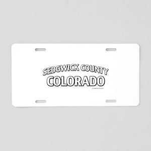 Sedgwick County Colorado Aluminum License Plate