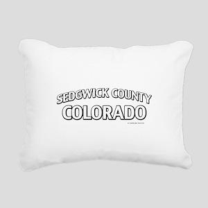 Sedgwick County Colorado Rectangular Canvas Pillow