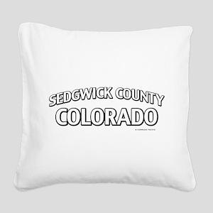 Sedgwick County Colorado Square Canvas Pillow