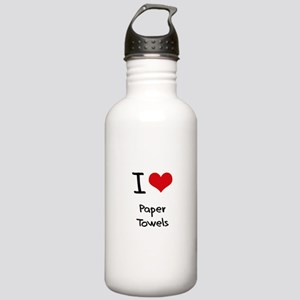 I Love Paper Towels Water Bottle