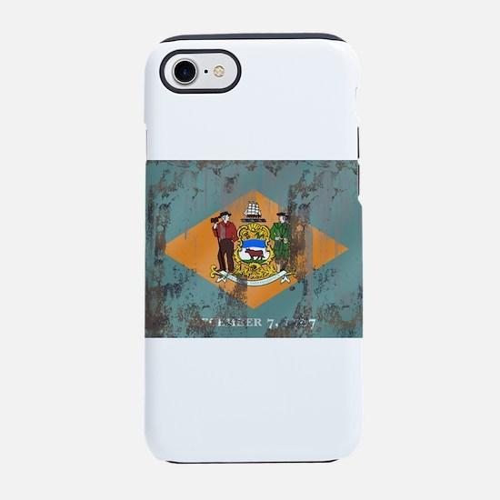 Retro Delaware Flag iPhone 7 Tough Case