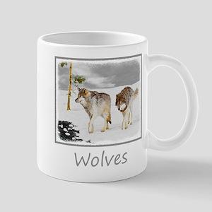 Wolves in Snow 11 oz Ceramic Mug