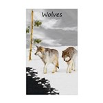 Wolves in Snow Sticker (Rectangle 50 pk)