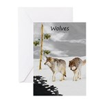 Wolves in Snow Greeting Cards (Pk of 10)