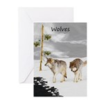 Wolves in Snow Greeting Cards (Pk of 20)