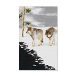 Wolves in Snow 35x21 Wall Decal