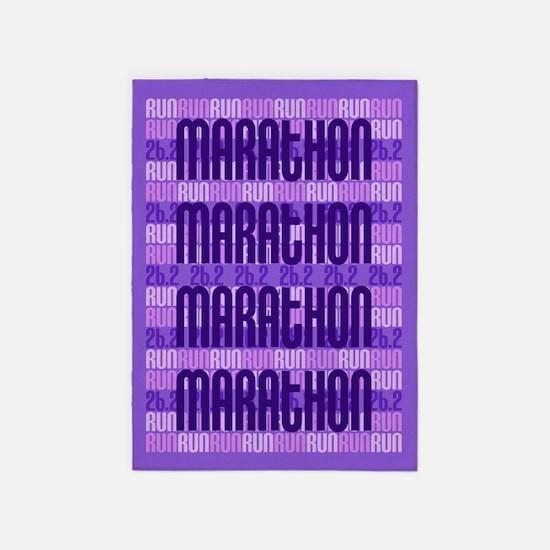 Marathon Run 5'x7'Area Rug